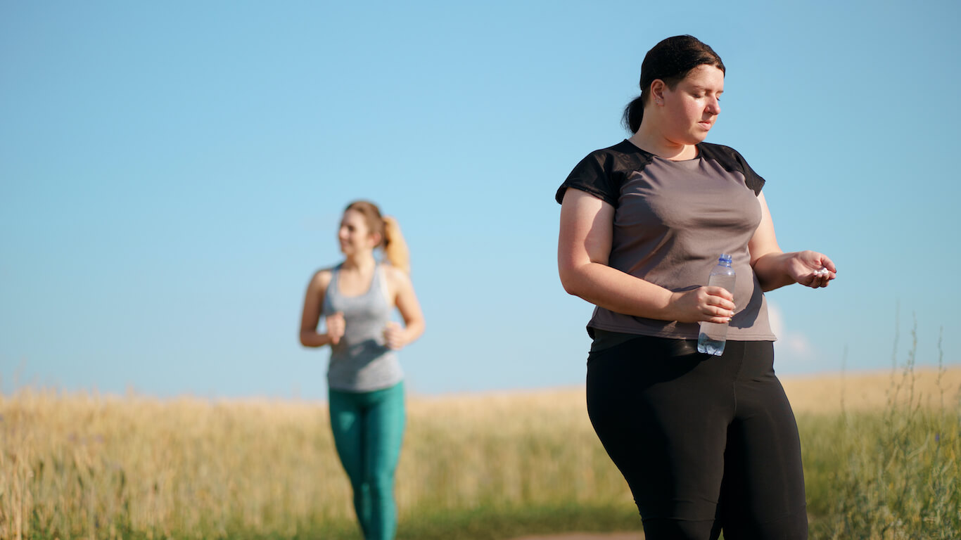 beliefs barriers and facilitators to physical activity - two females with differing attitudes